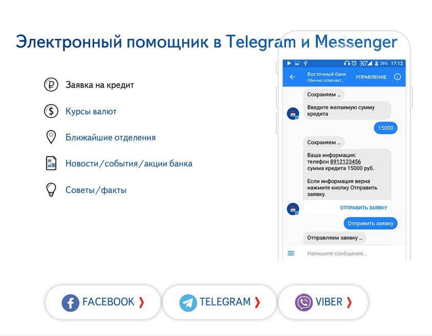 Электронный помощник в Telegram и Messenger