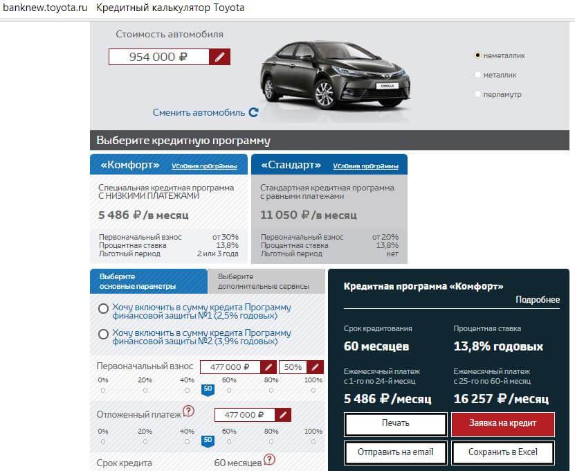 Кредит на Toyota