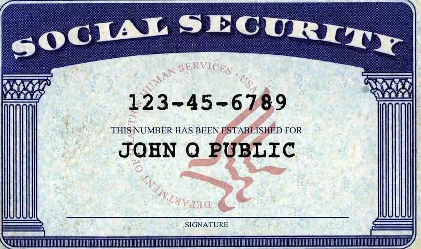 Номер социального страхования США