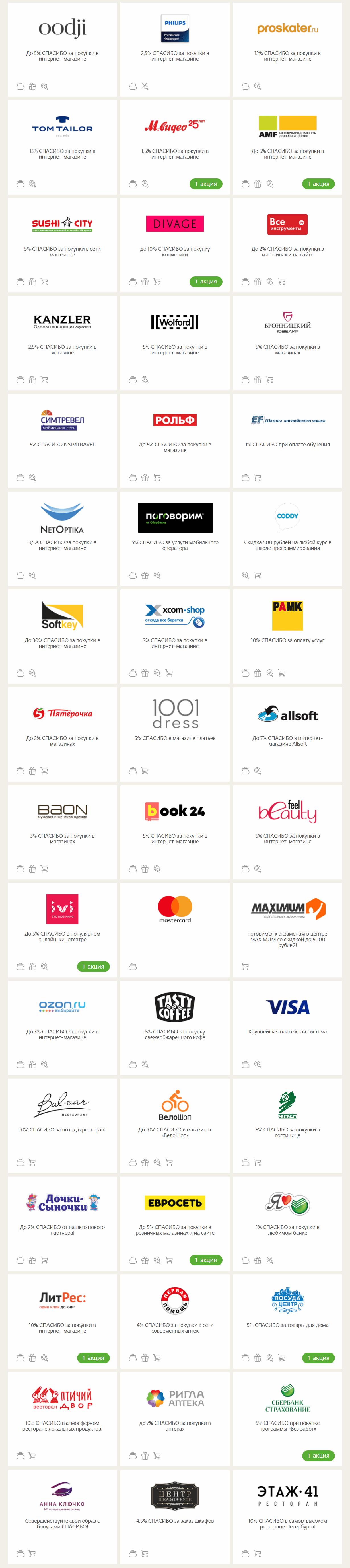 79d57ff6ebd88 Список магазинов, которые принимают бонусы Спасибо от Сбербанка - 2 часть
