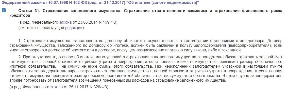 ФЗ №102 «Об ипотеке»