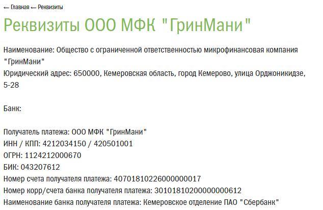 Погашение онлайн займа банковским переводом