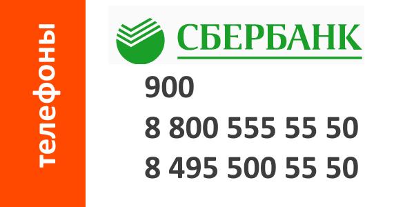 Телефоны для связи со Сбербанком